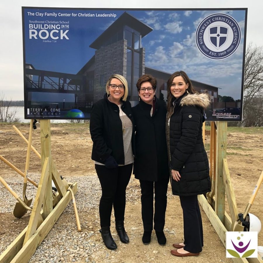 Anna Hammonds, Missy Gale, Laura Hutyra at Southwest Christian School Ground Breaking