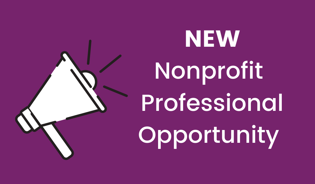 New nonprofit professional opportunity