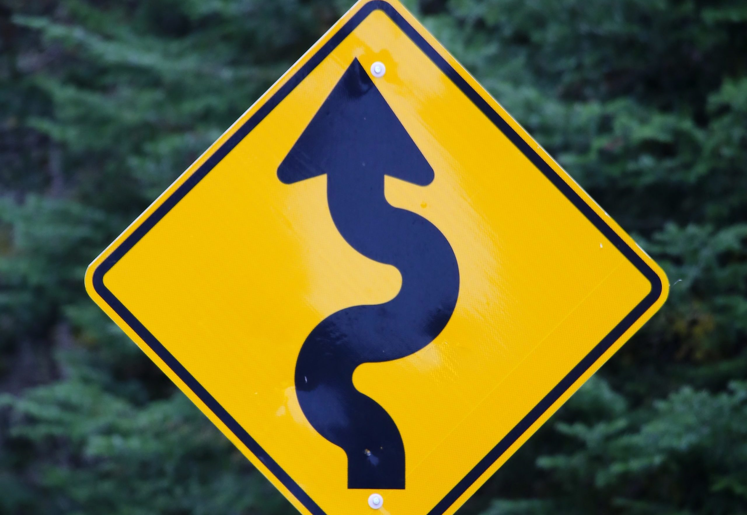 winding path sign